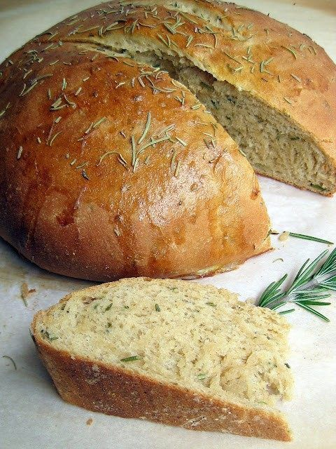 Rosemary Olive Oil Crock Pot Bread Gluten Free